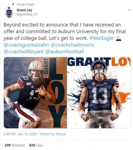 Loy To Auburn